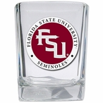 Florida State Seminoles Red Logo Pewter Accent Shot Glasses, Set of 4