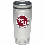 Florida State Seminoles Red Logo Travel Mug with Pewter Accent