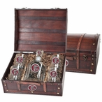 Florida State Seminoles Red Pewter Accent Capitol Decanter Chest Set