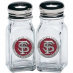 Florida State Seminoles Red Pewter Accent Salt & Pepper Shakers