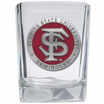 Florida State Seminoles Red Pewter Accent Shot Glasses, Set of 4