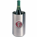 Florida State Seminoles Red Pewter Stainless Steel Wine Bottle Chiller