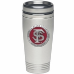 Florida State Seminoles Red Stainless Steel Travel Mug with Pewter