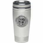 Florida State Seminoles Stainless Steel Travel Mug with Pewter Accent