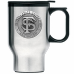 Florida State Seminoles Travel Mug with Handle & Pewter Accent