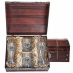 Florida State University Seminoles Pewter Accent Beer Chest Box Set