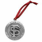 Florida State University Seminoles Pewter Accent Ornaments, Set of 2