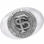 Florida State University Seminoles Pewter Accent Paperweight