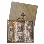 Florida State University Seminoles Red Pewter Accent Beer Box Set