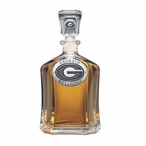 Georgia Bulldogs Capitol Glass Decanter with Pewter Accents