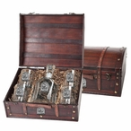 Georgia Bulldogs Dog Pewter Accent Capitol Decanter Chest Set
