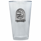 Georgia Bulldogs Dog Pewter Accent Pint Beer Glasses, Set of 2