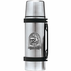 Georgia Bulldogs Dog Pewter Accent Stainless Steel Thermos