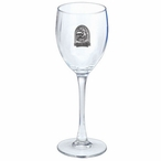 Georgia Bulldogs Dog Pewter Accent Wine Glass Goblets, Set of 2