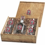 Georgia Bulldogs Dog Red Pewter Accent Capitol Decanter Box Set