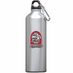Georgia Bulldogs Dog Red Pewter Accent Stainless Steel Water Bottle