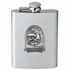 Georgia Bulldogs Dog Stainless Steel Flask with Pewter Accent