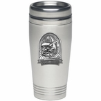 Georgia Bulldogs Dog Stainless Steel Travel Mug with Pewter Accent