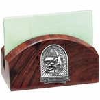 Georgia Bulldogs Dog Wood Business Card Holder with Pewter Accent