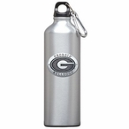 Georgia Bulldogs Pewter Accent Stainless Steel Water Bottle