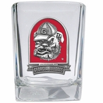 Georgia Bulldogs Red Dog Pewter Accent Shot Glasses, Set of 4