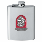Georgia Bulldogs Red Dog Stainless Steel Flask with Pewter Accent
