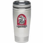 Georgia Bulldogs Red Dog Stainless Steel Travel Mug with Pewter Accent