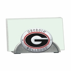 Georgia Bulldogs Red Metal Business Card Holder with Pewter Accent