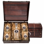 Georgia Bulldogs Red Pewter Accent Capitol Decanter Chest Set