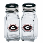Georgia Bulldogs Red Pewter Accent Salt & Pepper Shakers