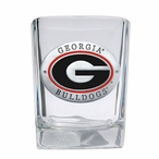 Georgia Bulldogs Red Pewter Accent Shot Glasses, Set of 4
