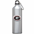 Georgia Bulldogs Red Pewter Accent Stainless Steel Water Bottle