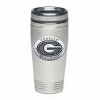 Georgia Bulldogs Stainless Steel Travel Mug with Pewter Accent