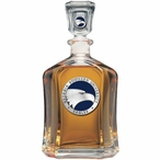 Georgia Southern Eagles Blue Capitol Glass Decanter w/ Pewter Accents