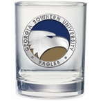 Georgia Southern Eagles Blue Pewter Accent DOF Glasses, Set of 2