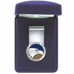 Georgia Southern Eagles Blue Pewter Accent Steel Money Clip