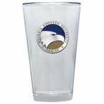 Georgia Southern Eagles Blue Pewter Pint Beer Glasses, Set of 2