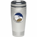 Georgia Southern Eagles Blue Stainless Steel Travel Mug with Pewter