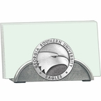 Georgia Southern Eagles Metal Business Card Holder with Pewter Accent