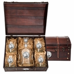 Georgia Southern Eagles Pewter Accent Capitol Decanter Chest Set