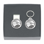 Georgia Southern Eagles Pewter Accent Money Clip & Key Chain Gift Set