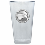 Georgia Southern Eagles Pewter Accent Pint Beer Glasses, Set of 2
