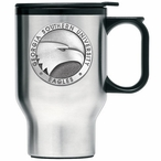 Georgia Southern Eagles Travel Mug with Handle & Pewter Accent