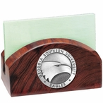 Georgia Southern Eagles Wood Business Card Holder with Pewter Accent