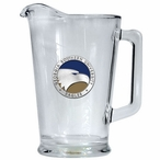 Georgia Southern University Eagles Blue Glass Pitcher w/ Pewter Accent