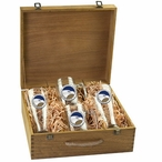 Georgia Southern University Eagles Blue Pewter Accent Beer Box Set
