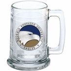 Georgia Southern University Eagles Blue Pewter Accent Glass Beer Mug