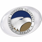 Georgia Southern University Eagles Blue Pewter Accent Paperweight
