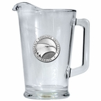 Georgia Southern University Eagles Glass Pitcher with Pewter Accent