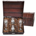 Georgia Southern University Eagles Pewter Accent Beer Chest Box Set
